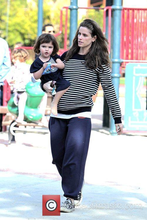 Spends time with her daughter Frances Friedman at...
