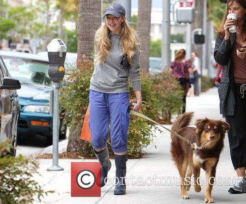 Amanda Seyfried leaving Beverly Hills' Paper Source with...