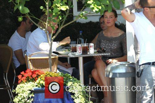 Amber Heard enjoys lunch at Fred Segal Los...