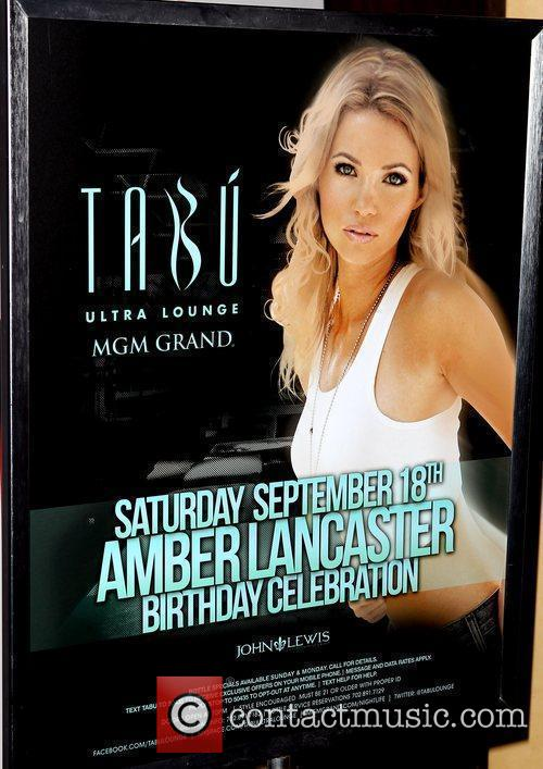 Amber Lancaster celebrates her birthday at Tabu Ultra...