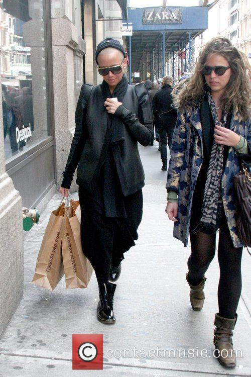 Shopping in SoHo with a friend while wearing...