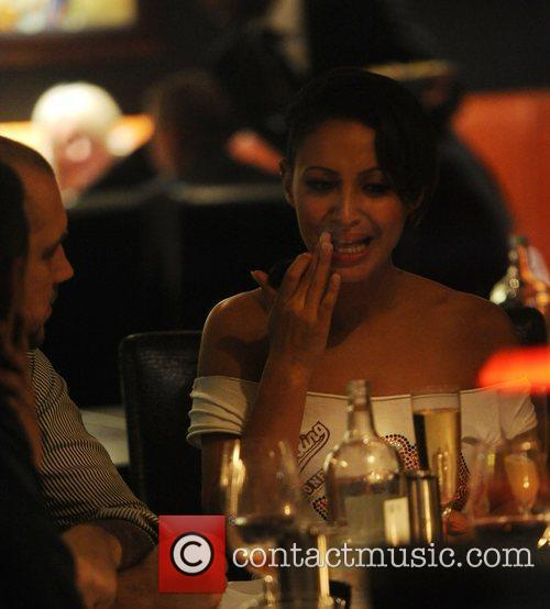 Amelle Berrabah from the Sugarbabes is seen having...
