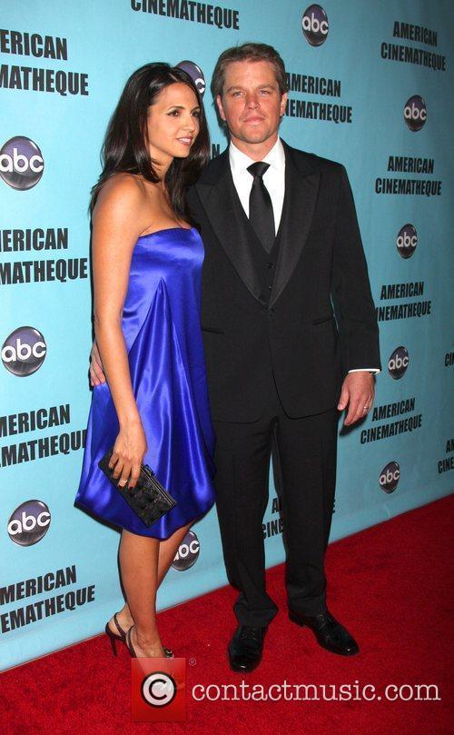 Luciana Barroso and Matt Damon The American Cinematheque...