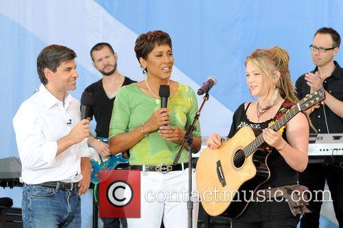 George Stephanopoulos, Robin Roberts and Crystal Bowersox 2010...