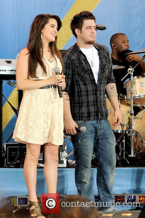 Katie Stevens and Lee DeWyze 2010 American Idols...