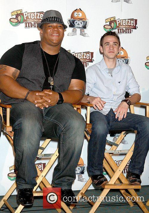 Michael Lynche and Aaron Kelly from American Idol...