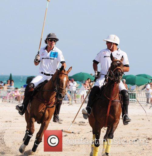 Polo player Nacho Figueras and Pelon Escapite...