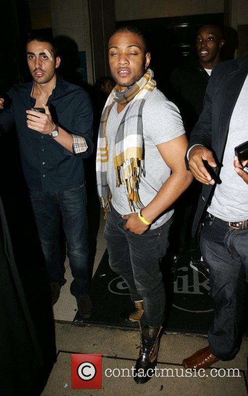 Jonathan 'JB' Gill of JLS outside Amika club...