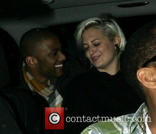Jonathan 'JB' Gill of JLS and his girlfriend...