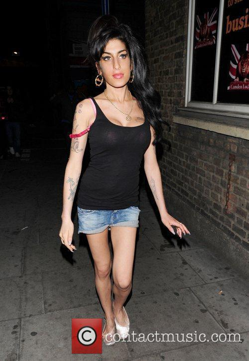 Amy Winehouse was spotted out and about in...