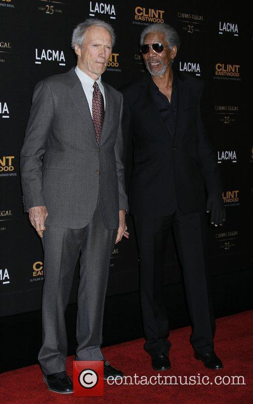 Clint Eastwood and Morgan Freeman LACMA and Warner...