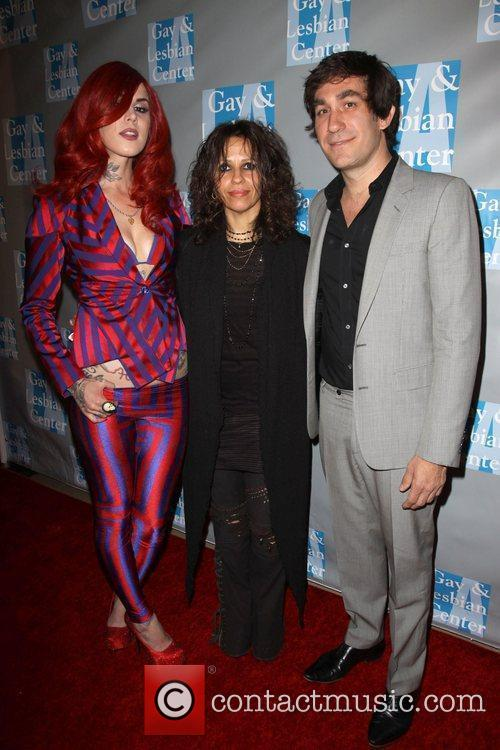Kat Von D, Linda Perry and Brent Bolthouse 8