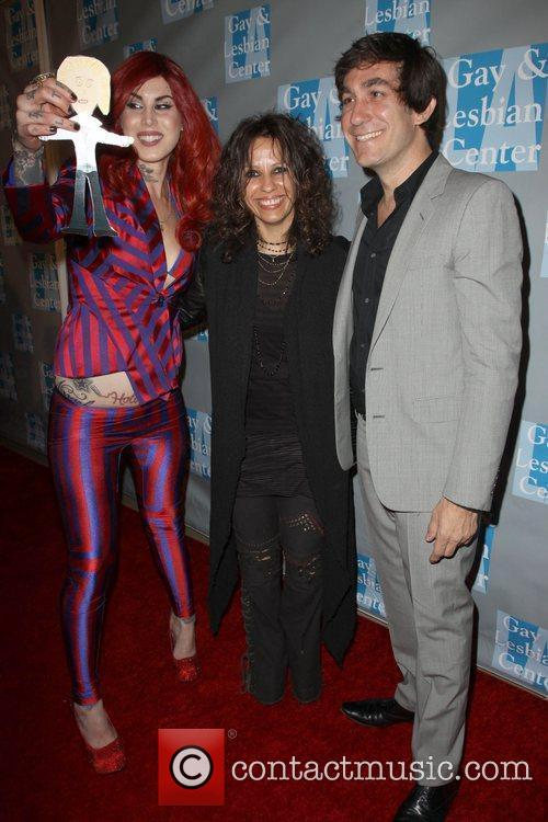 Kat Von D, Linda Perry and Brent Bolthouse 3