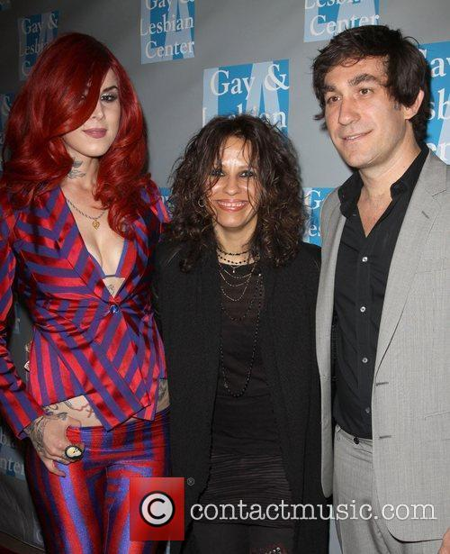 Kat Von D, Linda Perry and Brent Bolthouse 10