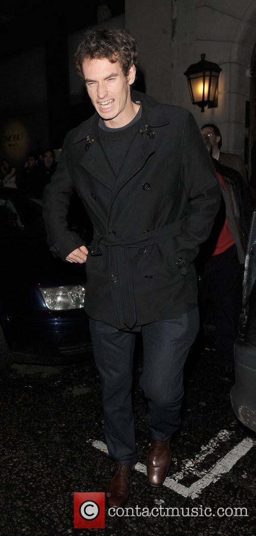 Andy Murray leaving Nobu Berkeley restaurant. London, England