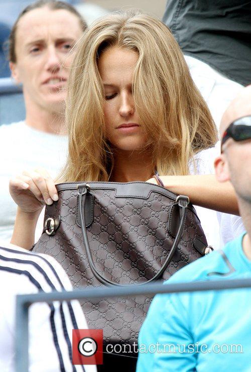 Kim Sears  Kim Sears watches her boyfriend...