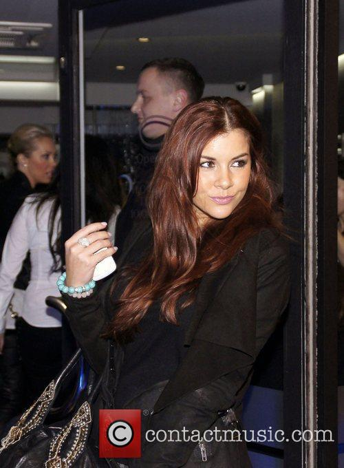 Imogen Thomas celebrities attend an event at Anesis...