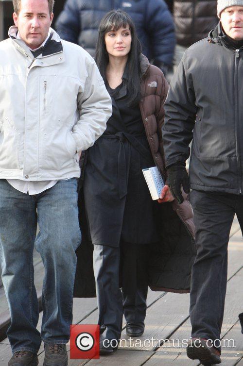 Angelina Jolie on the Manhattan set of her...