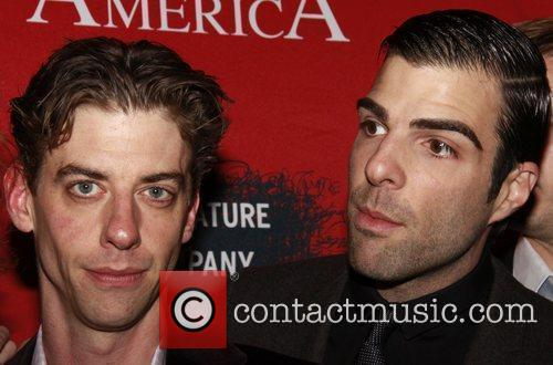 Christian Borle, Fantasia, In America, Tony Kushner and Zachary Quinto 5