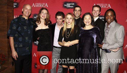 Frank Wood, Billy Porter, Christian Borle, Fantasia, In America, Tony Kushner, Zachary Quinto and Zoe Kazan 2