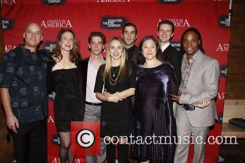 Frank Wood, Billy Porter, Christian Borle, Fantasia, In America, Tony Kushner, Zachary Quinto and Zoe Kazan 3