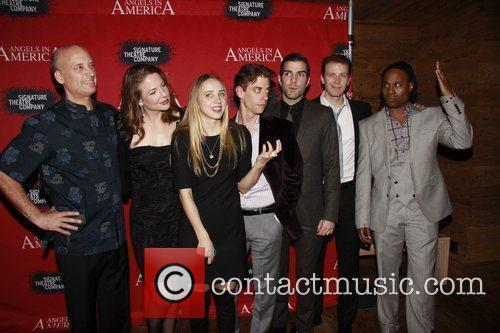 Frank Wood, Billy Porter, Christian Borle, Fantasia, In America, Tony Kushner, Zachary Quinto and Zoe Kazan 1