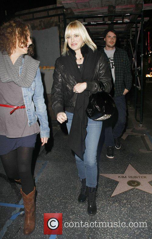 Actress, Anna Faris, is seen walking with friends...