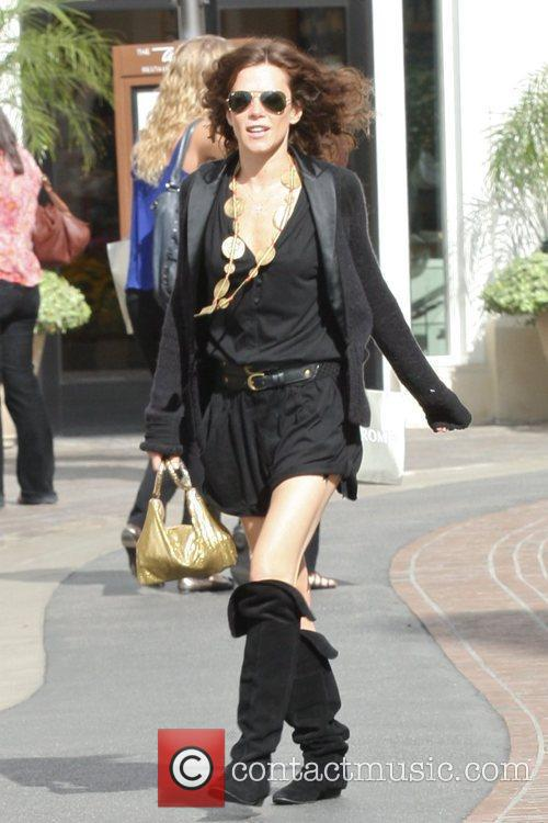 Anna Friel shopping at The Grove in Hollywood...