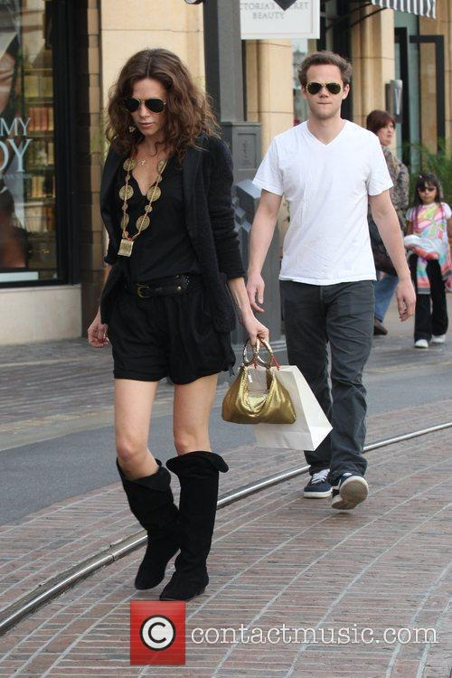 Shopping together at The Grove in Hollywood