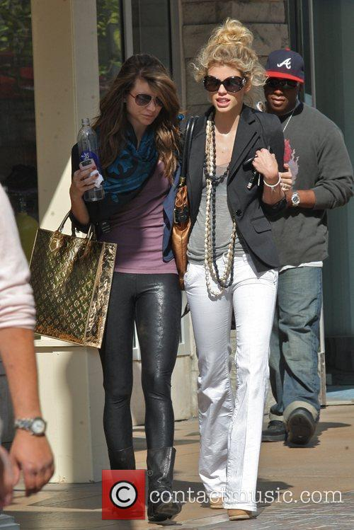 Annalynne Mccord and Her Sister Angel Mccord Go Shopping Together At The Grove. 1