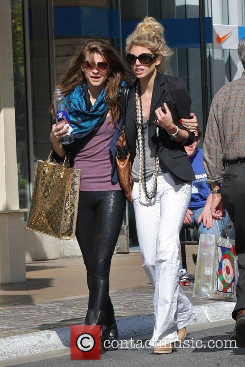 Annalynne Mccord and Her Sister Angel Mccord Go Shopping Together At The Grove. 6