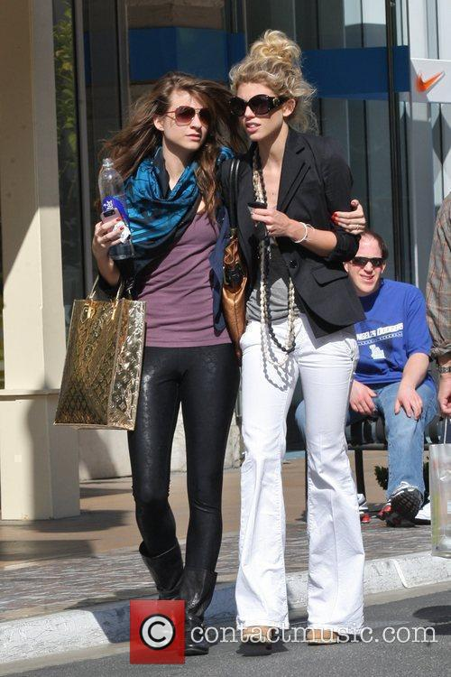 Annalynne Mccord and Her Sister Angel Mccord Go Shopping Together At The Grove. 8