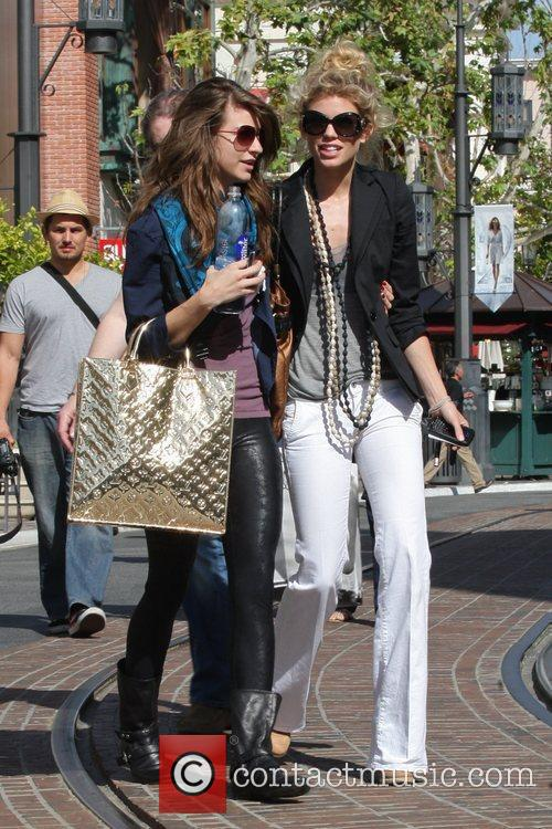 AnnaLynne McCord and her sister Angel McCord go shopping together at The Grove. 14