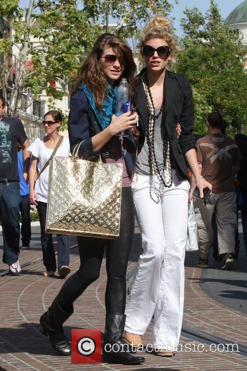 Annalynne Mccord and Her Sister Angel Mccord Go Shopping Together At The Grove. 4