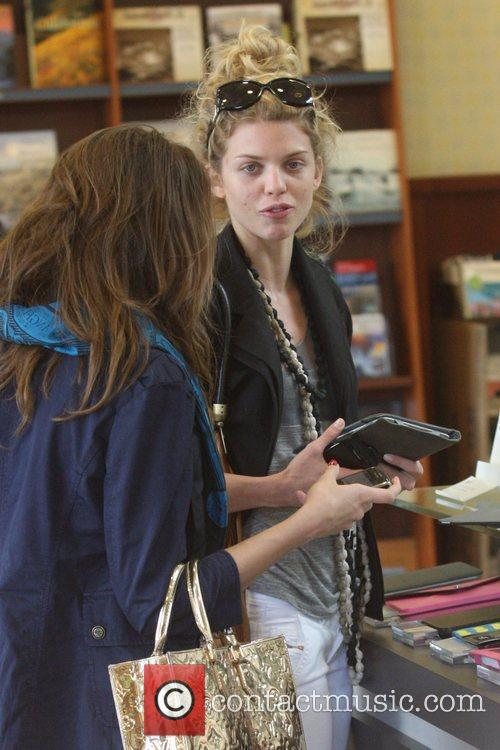 Annalynne Mccord and Her Sister Angel Mccord Go Shopping Together At The Grove. 10