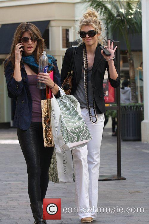 Annalynne Mccord and Her Sister Angel Mccord Go Shopping Together At The Grove. 2