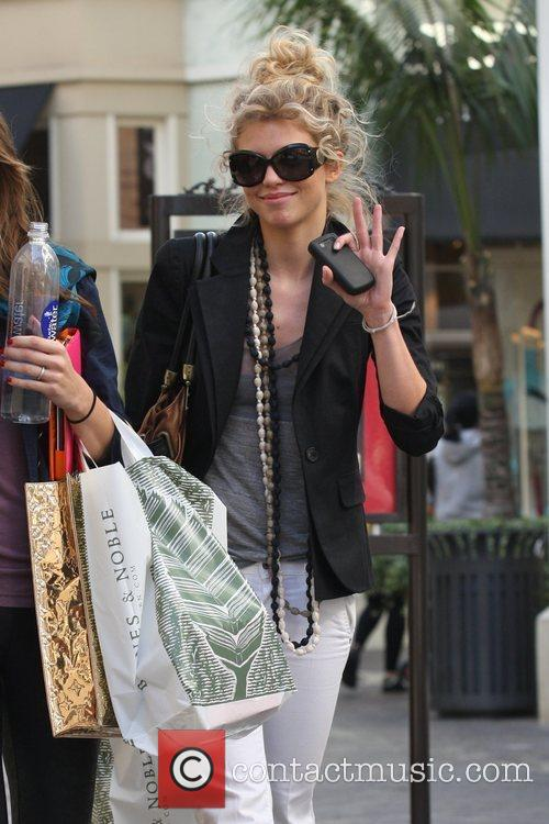 AnnaLynne McCord and her sister Angel McCord go shopping together at The Grove. 15