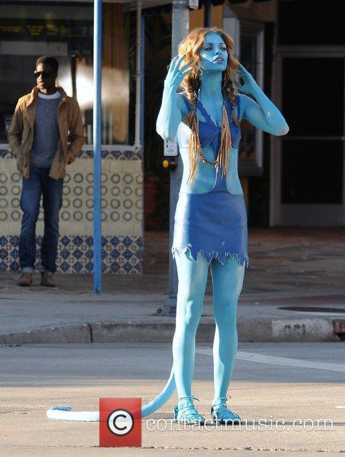 AnnaLynne McCord is seen in an 'Avatar' like...