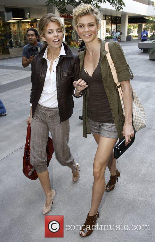 Anna Lynn McCord and Angel McCord leaving The...