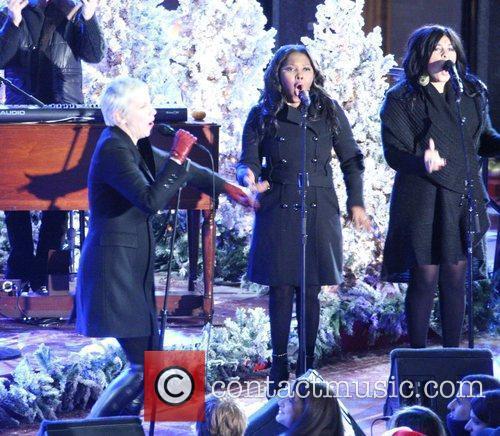 Annie Lennox performs live at Rockerfeller Center in...
