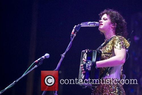 Regine Chassagne of Arcade Fire performs live on...