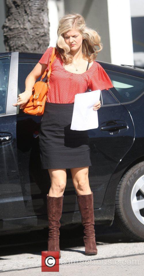 Arden Myrin  running errands in West Hollywood...