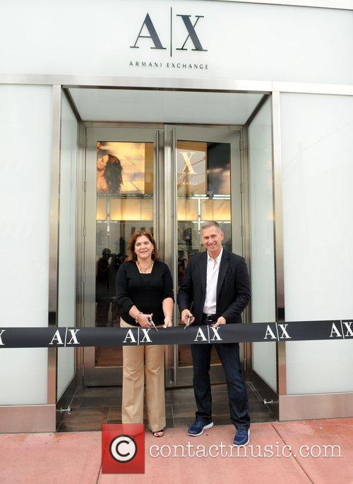 Armani Exchange South Beach store opening and ribbon...