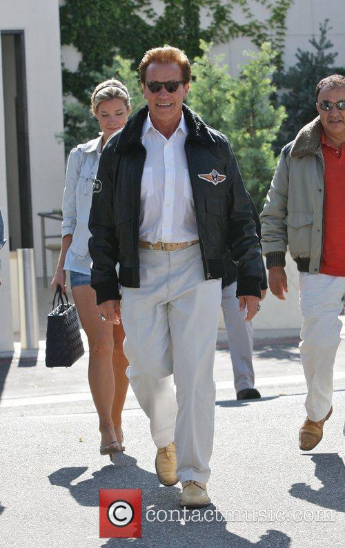 Arnold Schwarzenegger seen out and about Beverly Hills