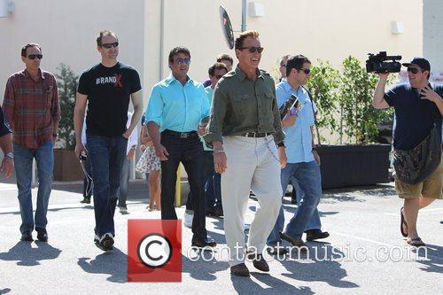 Sylvester Stallone and Arnold Schwarzenegger 9