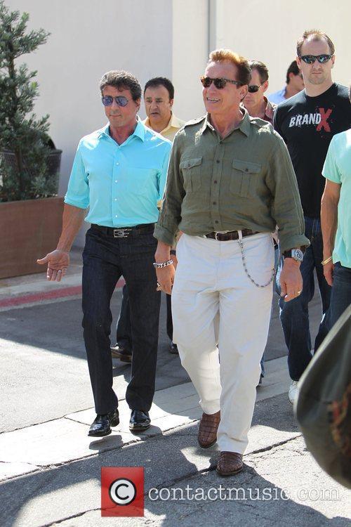 Sylvester Stallone and Arnold Schwarzenegger 7
