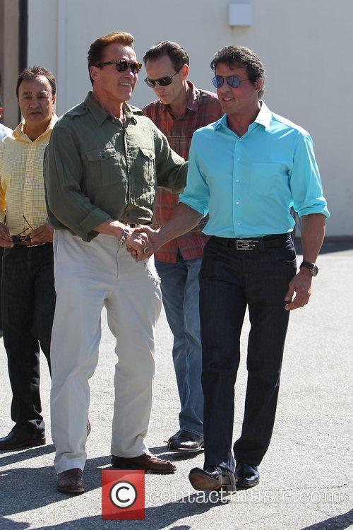 Sylvester Stallone and Arnold Schwarzenegger 3