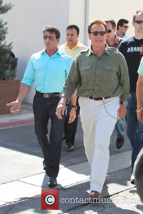 Sylvester Stallone and Arnold Schwarzenegger 4