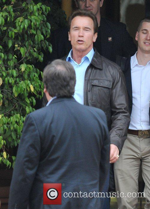 Arnold Schwarzenegger out for lunch in Santa Monica...
