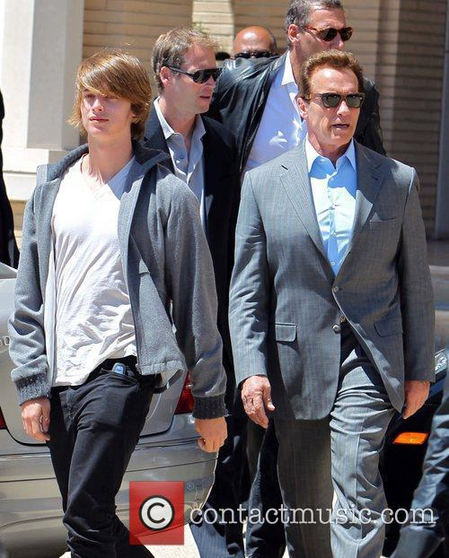 Patrick and Arnold Schwarzenegger 2